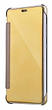 Eiroo Mirror Cover Samsung Galaxy Note 5 Aynalı Kapaklı Gold Kılıf