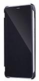 Eiroo Mirror Cover Samsung Galaxy Note 5 Aynalı Kapaklı Siyah Kılıf