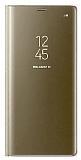 Eiroo Mirror Cover Samsung Galaxy Note 8 Uyku Modlu Aynalı Kapaklı Gold Kılıf