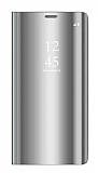 Eiroo Mirror Cover Samsung Galaxy Note 9 Aynalı Kapaklı Silver Kılıf