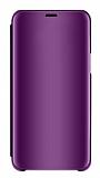 Eiroo Mirror Cover Samsung Galaxy S10 Plus Aynalı Kapaklı Mor Kılıf