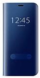 Eiroo Mirror Cover Samsung Galaxy S7 Aynalı Kapaklı Lacivert Kılıf
