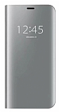 Eiroo Mirror Cover Samsung Galaxy S7 Aynalı Kapaklı Silver Kılıf