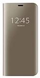 Eiroo Mirror Cover Samsung Galaxy S7 Aynalı Kapaklı Gold Kılıf