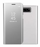 Eiroo Mirror Cover Samsung Galaxy S8 Aynalı Kapaklı Silver Kılıf