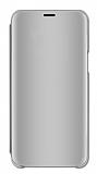 Eiroo Mirror Cover Xiaomi Mi 9 Aynalı Kapaklı Silver Kılıf