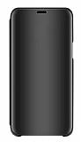 Eiroo Mirror Cover Xiaomi Mi Note 10 Lite Aynalı Kapaklı Siyah Kılıf