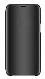 Eiroo Mirror Cover Xiaomi Redmi Note 9 Pro Aynalı Kapaklı Siyah Kılıf