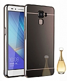 Eiroo Mirror Huawei GT3 Metal Kenarlı Aynalı Siyah Rubber Kılıf