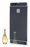 Eiroo Mirror Huawei P9 Silikon Kenarl� Aynal� Siyah Rubber K�l�f