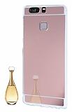 Eiroo Mirror Huawei P9 Silikon Kenarl� Aynal� Rose Gold Rubber K�l�f