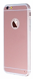 Eiroo Mirror iPhone 6 Plus / 6S Plus Silikon Kenarl� Aynal� Rose Gold Rubber K�l�f