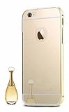 Eiroo Mirror iPhone 7 Metal Kenarlı Aynalı Gold Rubber Kılıf