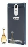Eiroo Mirror Lenovo Vibe K5 Note Metal Kenarlı Aynalı Siyah Rubber Kılıf