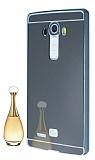 Eiroo Mirror LG G4 Metal Kenarlı Aynalı Siyah Rubber Kılıf