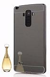 Eiroo Mirror LG G4 Stylus Metal Kenarlı Aynalı Siyah Rubber Kılıf