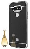 Eiroo Mirror LG G5 Metal Kenarlı Aynalı Siyah Rubber Kılıf