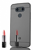 Eiroo Mirror LG G6 Metal Kenarlı Aynalı Siyah Rubber Kılıf