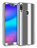 Eiroo Mirror Protect Fit Huawei P20 Lite Aynalı 360 Derece Koruma Silver Kılıf