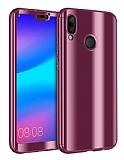 Eiroo Mirror Protect Fit Huawei P20 Lite Aynalı 360 Derece Koruma Rose Gold Kılıf