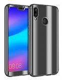 Eiroo Mirror Protect Fit Huawei P20 Lite Aynalı 360 Derece Koruma Siyah Kılıf