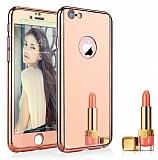 Eiroo Mirror Protect Fit iPhone 6 / 6S Aynalı 360 Derece Koruma Rose Gold Kılıf