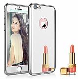 Eiroo Mirror Protect Fit iPhone 6 / 6S Aynalı 360 Derece Koruma Silver Kılıf