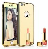 Eiroo Mirror Protect Fit iPhone 6 Plus / 6S Plus Aynalı 360 Derece Koruma Gold Kılıf