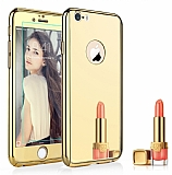 Eiroo Mirror Protect Fit iPhone SE / 5 / 5S Aynalı 360 Derece Koruma Gold Kılıf