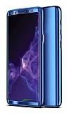 Eiroo Mirror Protect Fit Samsung Galaxy A50 360 Derece Koruma Lacivert Kılıf