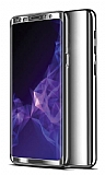 Eiroo Mirror Protect Fit Samsung Galaxy A50 360 Derece Koruma Silver Kılıf