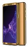 Eiroo Mirror Protect Fit Samsung Galaxy A50 360 Derece Koruma Gold Kılıf