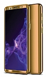 Eiroo Mirror Protect Fit Samsung Galaxy J6 Plus 360 Derece Koruma Gold Kılıf