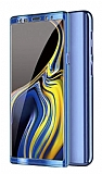 Eiroo Mirror Protect Fit Samsung Galaxy Note 10 360 Derece Koruma Mavi Kılıf