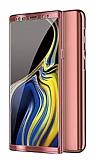 Eiroo Mirror Protect Fit Samsung Galaxy Note 10 360 Derece Koruma Rose Gold Kılıf