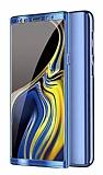 Eiroo Mirror Protect Fit Samsung Galaxy Note 10 Plus 360 Derece Koruma Mavi Kılıf