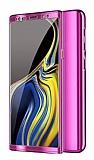 Eiroo Mirror Protect Fit Samsung Galaxy Note 10 Plus 360 Derece Koruma Mor Kılıf