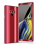 Eiroo Mirror Protect Fit Samsung Galaxy Note 9 Aynalı 360 Derece Koruma Kırmızı Kılıf