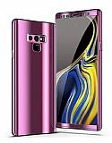 Eiroo Mirror Protect Fit Samsung Galaxy Note 9 Aynalı 360 Derece Koruma Mor Kılıf