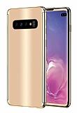Eiroo Mirror Protect Fit Samsung Galaxy S10 Aynalı 360 Derece Koruma Gold Kılıf