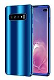 Eiroo Mirror Protect Fit Samsung Galaxy S10 Aynalı 360 Derece Koruma Lacivert Kılıf