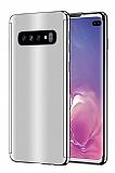 Eiroo Mirror Protect Fit Samsung Galaxy S10 Aynalı 360 Derece Koruma Silver Kılıf