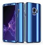 Eiroo Mirror Protect Fit Samsung Galaxy S9 Aynalı 360 Derece Koruma Lacivert Kılıf