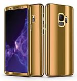 Eiroo Mirror Protect Fit Samsung Galaxy S9 Aynalı 360 Derece Koruma Gold Kılıf