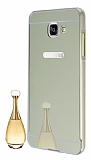 Eiroo Mirror Samsung Galaxy A3 2016 Metal Kenarl� Aynal� Gold Rubber K�l�f