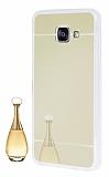 Eiroo Mirror Samsung Galaxy A3 2016 Silikon Kenarlı Aynalı Gold Rubber Kılıf