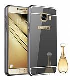 Eiroo Mirror Samsung Galaxy J5 Prime Metal Kenarlı Aynalı Siyah Rubber Kılıf