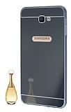 Eiroo Mirror Samsung Galaxy J7 Prime Metal Kenarlı Aynalı Siyah Rubber Kılıf