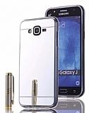 Eiroo Mirror Samsung Galaxy J7 / Galaxy J7 Core Silikon Kenarlı Aynalı Silver Rubber Kılıf