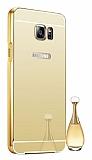 Eiroo Mirror Samsung Galaxy Note 5 Metal Kenarlı Aynalı Gold Rubber Kılıf